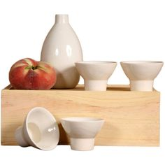 Dot & Bo 5-Pc. Takagi Sake Set ($31) ❤ liked on Polyvore featuring home and kitchen & dining
