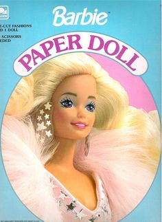 """Barbie Paper Dolls....After my Barbies' and My Barbie Camper? This was probably my most favorite """"toy"""" of my childhood--Paper Dolls!!! ;)"""