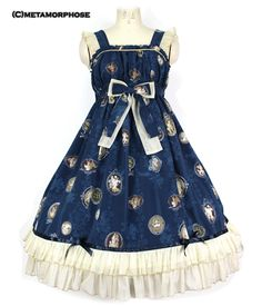 Metamorphose Temps de Fille Vintage Cameo JSK (Blue) Gothic Lolita Fashion,  Cameo, 38de972b12f