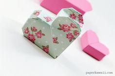 Origami Heart Box Video Instructions - Paper Kawaii