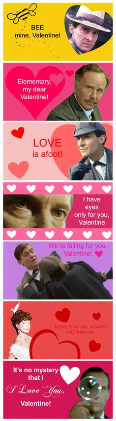 Sherlock Holmes Valentines by Silvre.deviantart.com on @deviantART