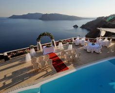 AMAZING wedding location in Greece. Wow...