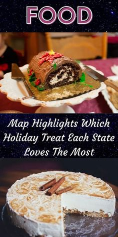 Whether you have visions of sugar plums or a nice thick cheesecake dancing through your head around the holidays, there's no denying that Americans love their Christmastime sweet treats. #Map #Highlights #State #Loves 1 Dollar Shop, Oscar Fish, Blue Jeep, Food Map, Korean Eye Makeup, Ankle Jewelry, Bridal Heels, Office 365, Contact Lens