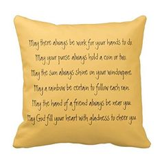 "18"" x 18"" Shamrock And Irish Blessing Pillow Decorative T... https://www.amazon.com/dp/B019RQ3XM4/ref=cm_sw_r_pi_dp_I.RExbC2FRH0N"