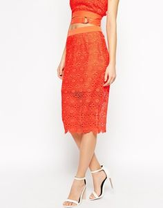 Enlarge Lavish Alice Lace Pencil Skirt