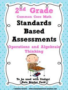 Standards Based Assessment: 2nd Grade Math Algebra {Common Core}