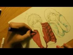 Drawing Futaba and Kou from Ao Haru Ride (Blue Spring Ride) - YouTube