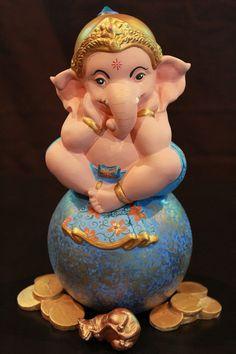 Clay Ganesha, Ganesha Art, Krishna Art, Ganesh Lord, Shri Ganesh, Durga, Ganesh Chaturthi Images, Happy Ganesh Chaturthi, Ganesha Pictures