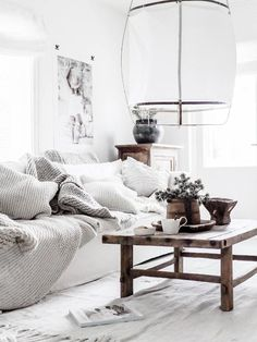 Bypias home white boho rustic French Home Decor, Fall Home Decor, Unique Home Decor, Home Decor Styles, Cheap Home Decor, Living Room White, Living Room Interior, Home And Living, Living Room Decor