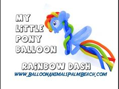 How To Make A My Little Pony Rainbow Dash Balloon - Balloon Animals Palm Beach - YouTube