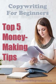 Everyone who's marketing and selling needs copywriting skills. Top tips you can use today. Copywriting For Beginners: Top 5 Money-Making Tips Creative Writing Jobs, Easy Writing, Make Money Writing, Blog Writing, How To Make Money, Writing Tips, Online Writing Classes, Better Books, How To Get Clients