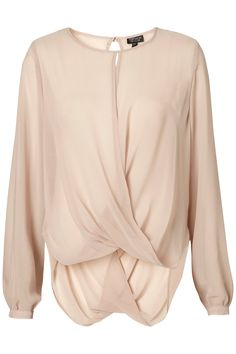 Nude Draped blouse!