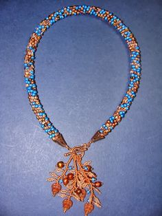 Beaded Girl: Beaded Kumihimo with Leaf Fringes Necklace - Free Tutorial for the Leaf Fringes