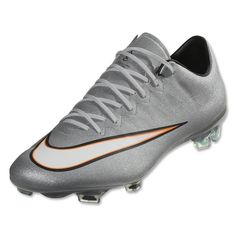 0e9263b5d Nike Mercurial Vapor X FG Men s Soccer Cleats Metallic Silver White. Soccer  Wearhouse
