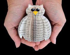 Cadeau d'amant de miniature boîte de présentation chouette - Art Book - livre - cadeau hibou - chouette - papier cadeau - 1er mariage anniversaire