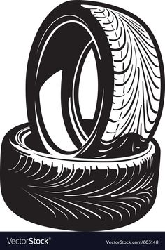 Illustration of Vector Tires vector art, clipart and stock vectors. Tire Vector, Dog Vector, Free Vector Images, Line Art Vector, Color Vector, Mustache Drawing, O Cowboy, Car Tattoos, Car Posters