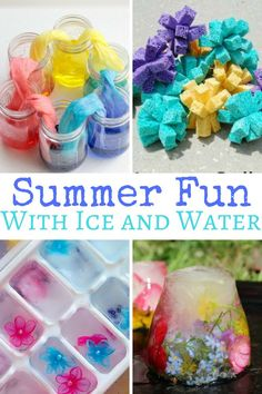Kids will never turn down the opportunity to play with ice or water, especially when it's hot outside! Let your kids cool off and have a blast with these ice and water sensory play ideas for summer. Outdoor Activities For Kids, Sensory Activities, Sensory Play, Nanny Activities, Sensory Bins, Educational Activities, Summer Fun For Kids, Diy For Kids, Crafts For Kids