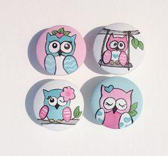 Owls Drawer Pulls - Set of 4