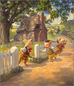 scott gustafson art | Scott Gustafson - Three Little Pigs