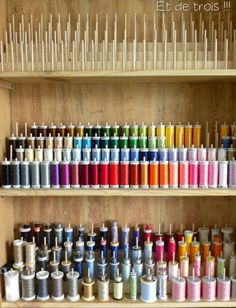 Como organizar as linhas de costura
