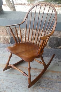 Continuous Arm Windsor Rocking Chair  by Luke A. Barnett Chairmaker