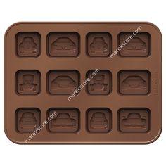 Silikonowa foremka do czekoladek w kształcie samochodzików - 12 szt   Tescoma   32,99 zł