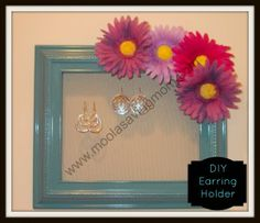 Earring Holder! Easy & cute!