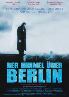 """Is called """"El cielo sobre Berlín"""" or """"Las Alas del Deseo"""" in Spanish (1987)  and """"Wings of Desire"""" in English"""