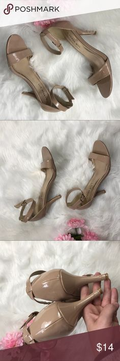 Madden Girl Ankle strap nude heels size 9.5 Madden girl  Used Nude Size 9.5  3.5 in heel  7/10 condition  Only signs of wear obviously are soles and the back of the heels attached in photos  Thank you for you shopping my closet! I give great big bundle discounts! Madden Girl Shoes Heels