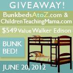 Walker Edison Bunk Bed #Giveaway Event {RV $549} | Ends 7/10