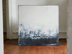 """Acrylmalerei - Abstrakte Kunst 100cm x 100cm  """"STADTGEFLÜSTER"""" - ein Designerstück von simeART bei DaWanda"""