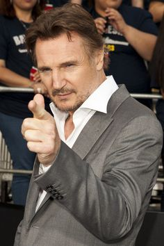 mmmm point and squint Liam Neeson, Clash Of The Titans, Michael Collins, Cinema, Ralph Fiennes, Poses For Men, Raining Men, Sharp Dressed Man, Star Pictures