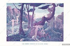 Fabius Lorenzi 1935 Les Nymphes Modernes et le Satyre Antique