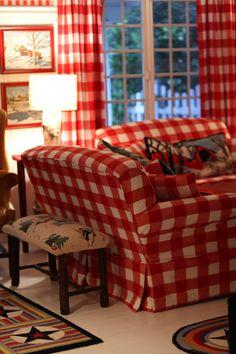 Buffalo Plaid...cozy family room {by Maria Starzyk}