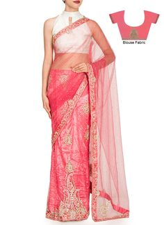 Embellished Pink Lehenga Saree