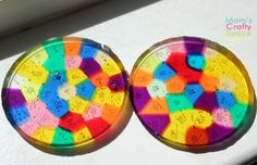 Melted Bead Sun Catcher Tutorial | Happiness is Homemade