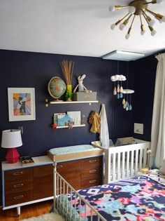 Nursery nook in the master bedroom in Jesyka's Room for Four
