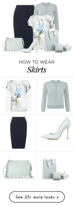 """Linen Blend Skirt"" by malathik on Polyvore featuring Donna Karan, Hobbs, Ted Baker, Loeffler Randall, Topshop and Just Diamond"