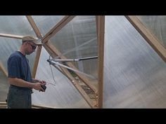 Automatic Vent Opener in the Geodesic Dome Greenhouse