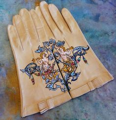 Victorian Mermaid leather gloves Dramatic by gloryhounddesigns, $52.25
