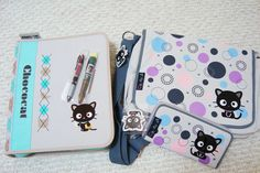 Genuine Sanrio Chococat binder, messenger bag, wallet & pens