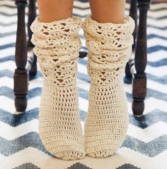 Crochet PATTERN for socks (pdf file) - Ladies Lace Socks. $4,99, via Etsy.