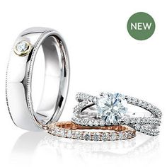Stuller offers the largest selection of bridal & wedding jewelry, including engagements, wedding bands, anniversary & eternity rings, and more! Round Diamond Engagement Rings, Bridal Sets, Eternity Ring, Custom Jewelry, Round Diamonds, Wedding Jewelry, Wedding Bands, Fine Jewelry, Jewels