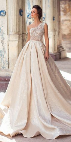 Lorenzo Rossi Wedding Dresses 2018 To Look A Diva ❤️ lorenzo rossi weddding . Lorenzo Rossi Wedding Dresses 2018 To Look A Diva ❤️ lorenzo rossi weddding dresses 2018 ball gown one shoulder pears sequin beaded ❤️ Full gallery: weddingdressesgui. Maxi Dress Wedding, Wedding Dresses 2018, White Wedding Dresses, Bridal Dresses, One Shoulder Wedding Dress, Wedding White, Backless Wedding, Modest Wedding, Elegant Wedding