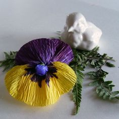 Pansy, Patterns for Crepe Paper Flowers
