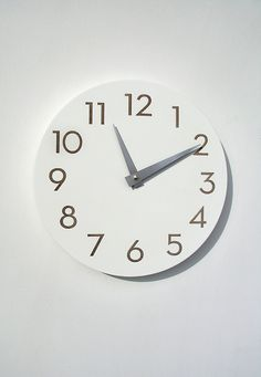 home office wall clock - white