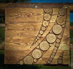 Экстерьер и дача ручной работы. Ярмарка Мастеров - ручная работа. Купить Панно Форма. Handmade. Панно, форма, интерьер, дерево