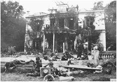 Hartestein Hotel after the battle, Arnhem, September 1944.