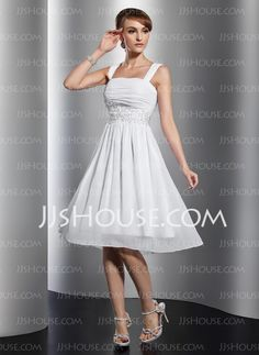 Homecoming Dresses -  A-Line/Princess Knee-Length Chiffon Homecoming Dress With Ruffle Lace Beading (022014801) http://jjshouse.com/A-Line-Princess-Knee-Length-Chiffon-Homecoming-Dress-With-Ruffle-Lace-Beading-022014801-g14801