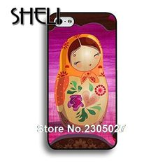 Iphone 4S 5 5S 5C 6 Plus for Samsung galaxy S3 S4 S5 S6 Babushka Matryoshka Red Russian Doll cellphone case